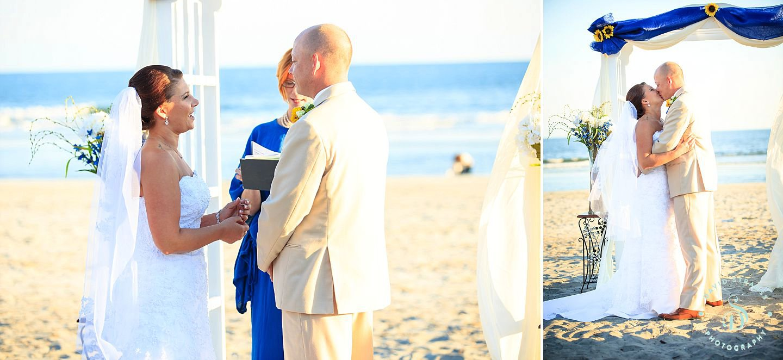 Beach Wedding Photographer Folly Photography Brenna And David
